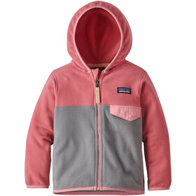 Patagonia Micro D Snap-T Jacket Kids feather grey with sticker pink